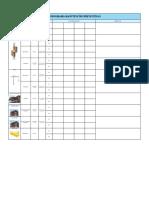 Cronograma equipamentos