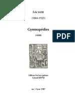 SATIE, Érik • Gymnopédies (edited by Gérard Reyne) (2 guitars music score)