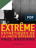 Paul Ardenne Extreme. La estetique de la limite dépassée 2006