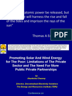 Promoting solar and wind energy for the poor