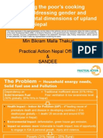 Modernizing the poor's cooking energy – addressing gender and environmental dimensions of upland poverty in Nepal - presentation