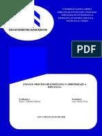 Ensayo Proceso de Enseñanza y Aprendizaje a Distancia (Daniel Tovar)