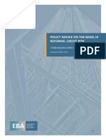 Policy Advice on Basel III reforms - Credit Risk