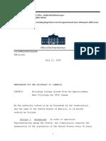 Memorandum on Excluding Undocumented