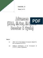 Advances (Hba, Motor Car Etc)