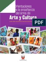 Orientaciones para la enseñanza del área de Arte y Cultura