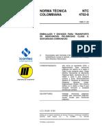11. NTC 4702_8 - EMBALAJES Y ENVASES PARA TRANSPORTE DE MERCANCÍAS PELIGROSAS CLASE 8 _ SUSTANCIAS CORROSIVAS