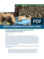 Security Sector Reform (SSR) Challenges to Peace in the Democratic Republic of the Congo