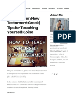 How to Learn New Testament Greek