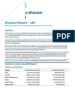 WHO COVID-19 SITUATION REPORT FOR JULY 21, 2020