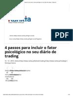 4 passos para incluir o fator psicológico no seu diário de trading - Rankia.pt