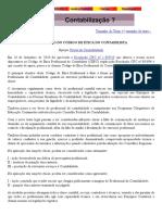AMPLIAÇÃO DO CÓDIGO DE ÉTICA PROFISSIONAL DO CONTABILISTA