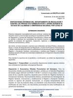 ANEXO 3. COMUNICADO MSPAS - ESTADO DE CALAMIDAD