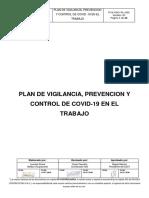PVX-SSO-PL-003 PLAN DE VIGILANCIA, PREVENCION Y CONTROL DE COVID -19 EN EL TRABAJO