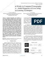 Survey on Recent Works in Computed Tomography Based Computer ‑ Aided Diagnosis of Liver Using Deep Learning Techniques