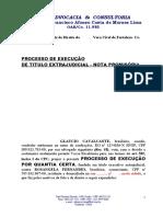 AÇÃO DE EXECUÇÃO NOTAs PROMISSÓRIAS - GLAUCIO 03.05.05