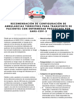Recomendación de Configuración de Ambulancias  PRIME