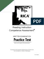 RICA - Practice Test