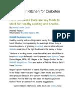 Stock your kitchen for Diabetes