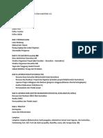 DRAF FINAL OUTLINE LAPORAN AKHIR & EXECUTIVE SUMMARY KMK