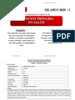 MG CUEVA SILABO 1er Ciclo APS 2020-I ESTOMATOLOGÍA