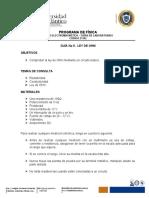 GUÍA No 5. Ley de Ohm y Resistividad