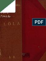 Lola, Romance de costumbres nacionales.
