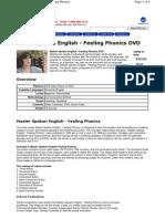Master Spoken English - Feeling Phonics DVD