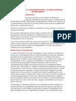 REDUCCIÓN DE LA CONTRAPRESTACIÓN Y LA RESOLUCIÓN POR INCUMPLIMIENTO (9julio)