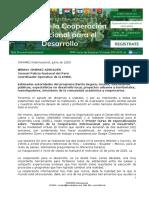 GESTION DE LA COOPERACION INTERNACIONAL PARA EL DESARROLLO
