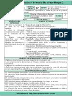 Plan 5to Grado - Bloque 2 Español (2016-2017)