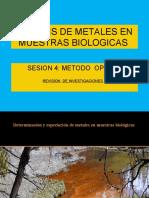 SESION 4  ANALISIS  METALES  BIOLOGI