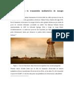 Antecedentes de la transmisión inalámbrica de energía eléctrica