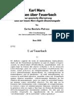 Karl Marx. Thesen über Feuerbach. Neue englische Übersetzung nach dem Text der neuen Marx-Engels-Gesamtausgabe. Von Carlos Bendaña-Pedroza