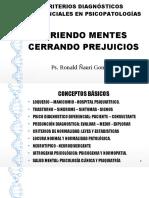 CRITERIOS DIAGNOSTICOS DIFERENCIALES EN PSICOPATOLOGIAS