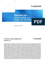 Hexion Q4 FY'19 Financial Results Earnings Call Final