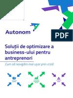 Autonom Solutii de Optimizare a Business Ului Pentru Antreprenori