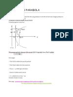 Persamaan Parabola