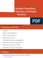 Lesson 3 Domain Controllers Member Services and Domain Services