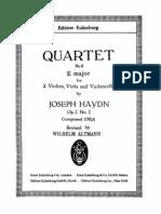 String Quartet No 8 in E, Hob 8 (Score) by J. Haydn
