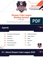 [8 June] Shopee Code League Briefing Session