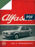 Alfa Romeo Alfasud User Manual 1976