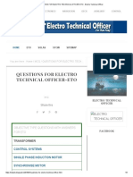 QUESTIONS FOR ELECTRO TECHNICAL OFFICER-ETO - Electro Technical Officer