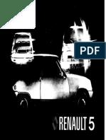 Renault R5 R5 alpine 1977 Owner Manual