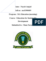 role as teacher in developing sustainable development