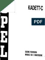 Opel Kadett C 1973 Owner Manual
