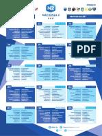 Le calendrier du groupe D de national 2 de foot
