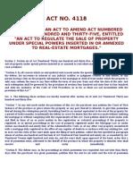 ACT NO 4118