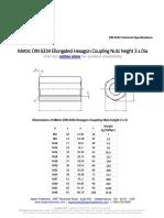 Metric_DIN_6334_spec for hexagonal coupling nut