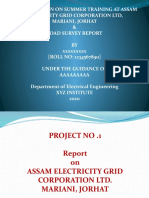 A PRESENTATION ON SUMMER TRAINING AT ASSAM ELECTRICITY GRID CORPORATION LTD,